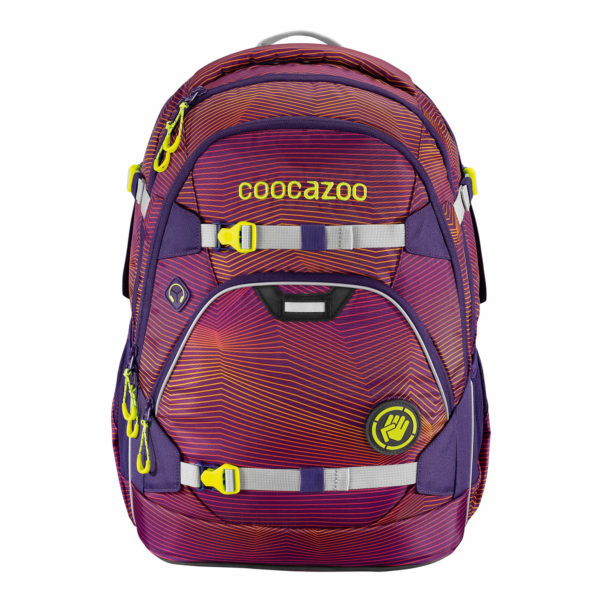 "coocazoo Rucksack ""ScaleRale"", Soniclights Purple, Vorderseite_188153"