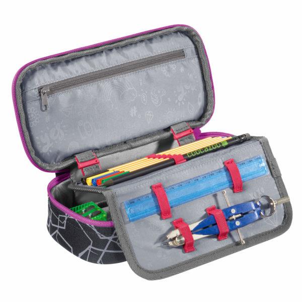 Pencil Denzel (Schlamperetui) Laserreflect berry kpl.
