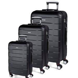 Kofferset 3-teilig Bumper, black