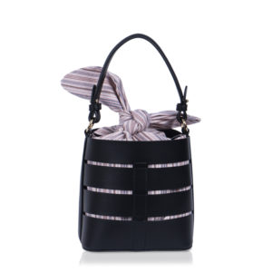 Mini bucket bag black