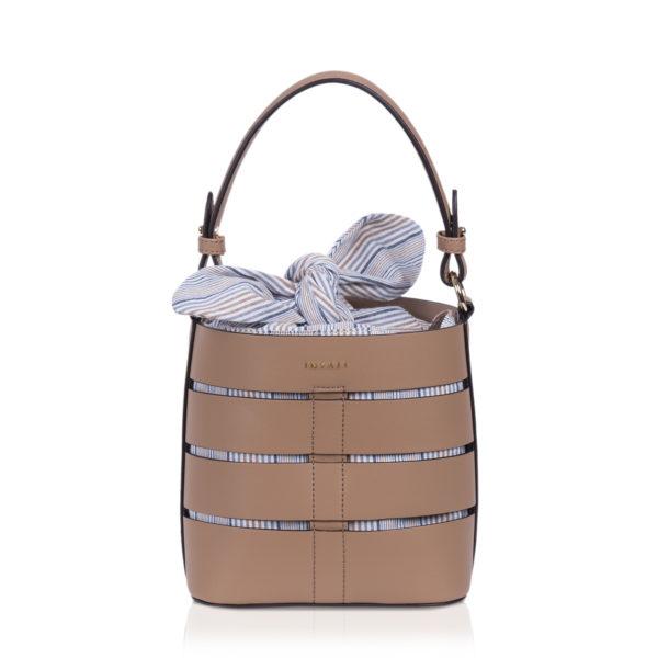 Mini bucketbag camel