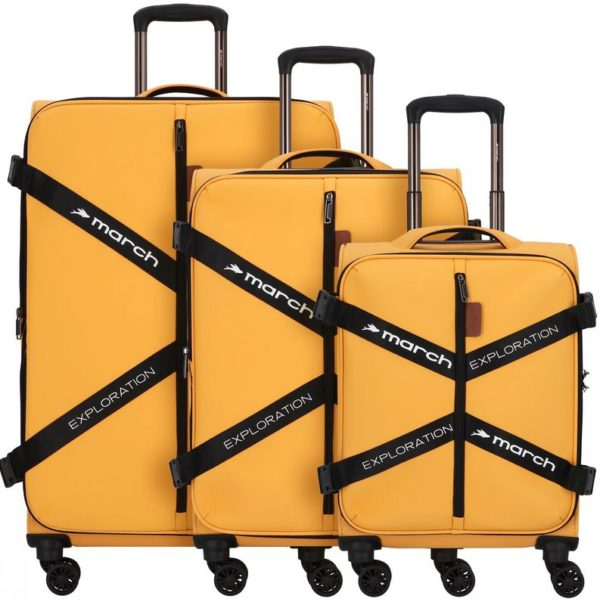 3-teiliges Kofferset, softshell, Exploration, golden-honey