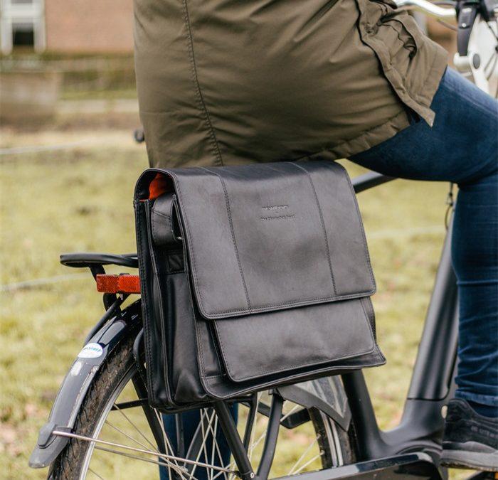 Edle Fahrradtaschen aus Leder