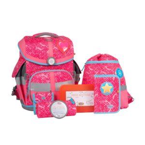 Schulranzenset School Mood TimelessAir Camilla, Motiv Herz, pink