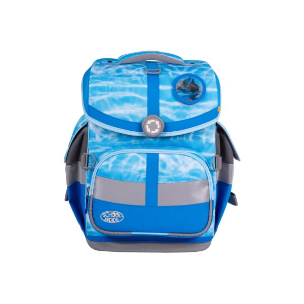 Schulranzenset School Mood TimelessAir Lisa, Motiv Delphin, blue