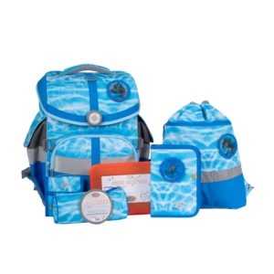Schulranzenset School Mood TimelessAir Lisa, Motiv Delphin, blue