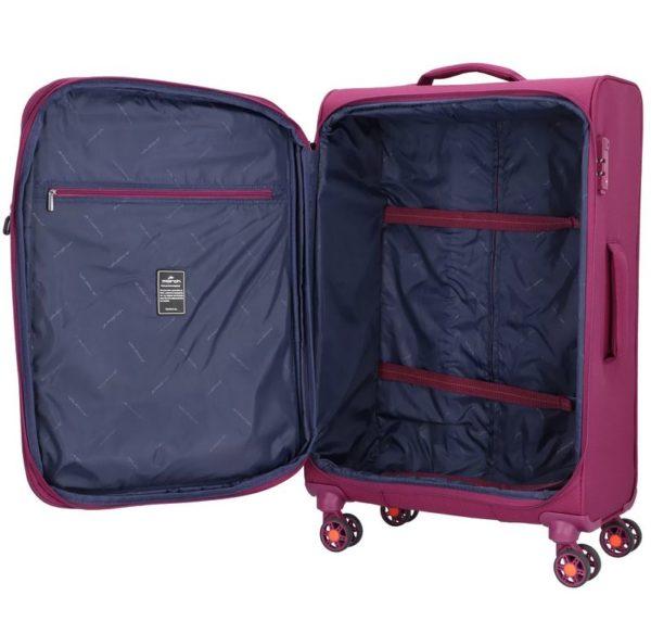Koffer softshell TOURER fuchsia