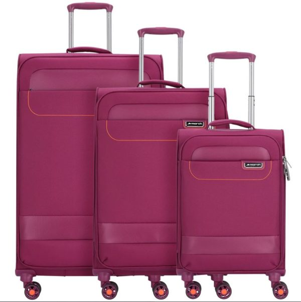 3-teiliges Kofferset, TOURER fuchsia