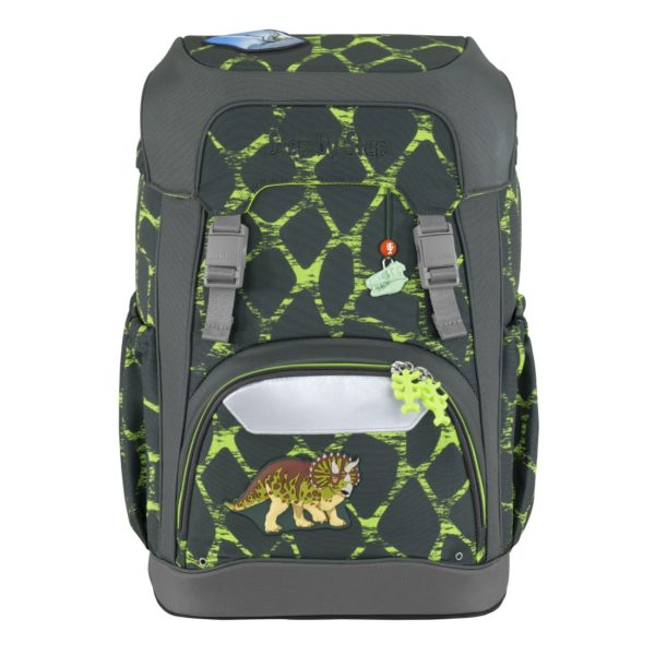"""Step by Step GIANT Schulrucksack-Set """"Dino Life"""", green-yellow"""
