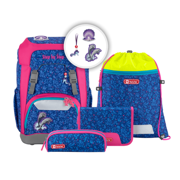 """Step by Step GIANT Schulrucksack-Set """"Happy Dolphins"""""""