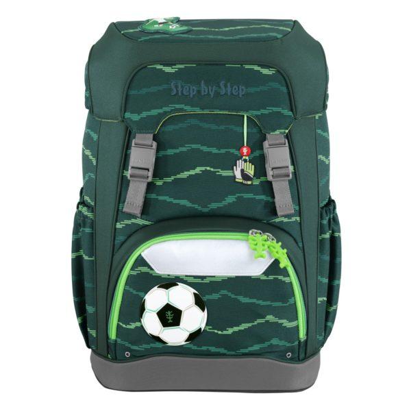 "Step by Step GIANT Schulrucksack-Set ""Soccer Star"", green"