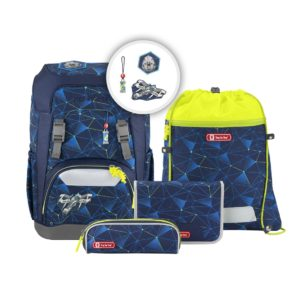 "Step by Step GIANT Schulrucksack-Set ""Starship"", dark-blue"