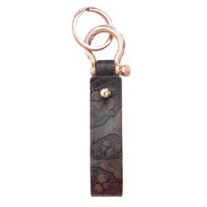 Schlüsselanhänger aus Leder mit Totenkopf