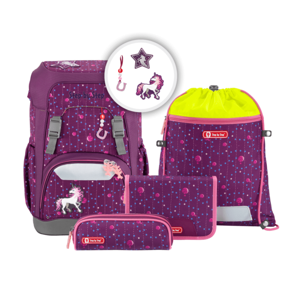 "Step by Step GIANT Schulrucksack-Set ""Dreamy Unicorn"", berry"