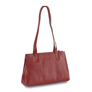 Leder Shopper Voi red