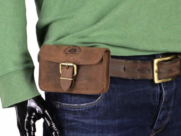 Gürteltasche Vintage Leder braun