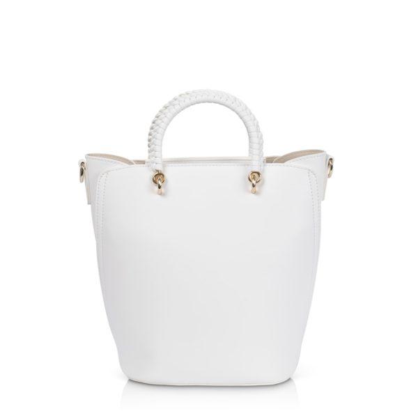 Kurzgrifftasche mit langem Gurt Inyati Tonia white