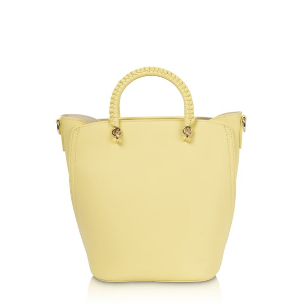 Kurzgrifftasche mit langem Gurt Tonia lemon
