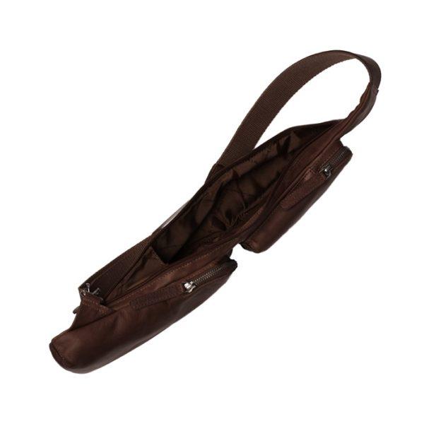 Crossbody Leder Umhängetasche in brown