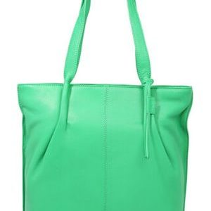 Leder Shopper Esther acid-green