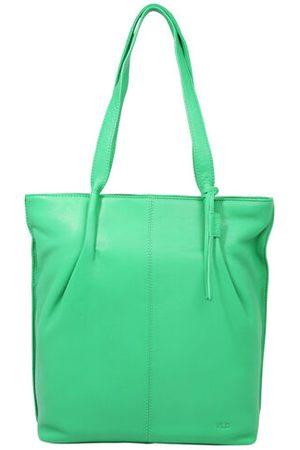 Leder Shopper Esther acid-green
