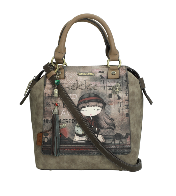 Rucksacktasche Anekke, Motiv Egypt, Material Polyurethan, Farbe brown