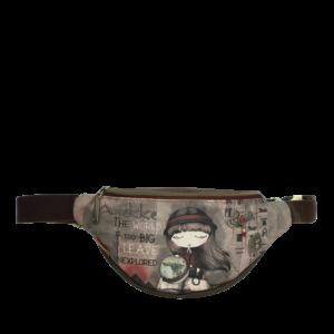 Hipbag Anekke, Motiv Egypt, Material Polyurethan, Farbe brown